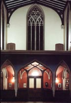View of the narthex
