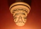 plaster face in narthex